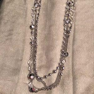 Silver Ball Crystal Necklace